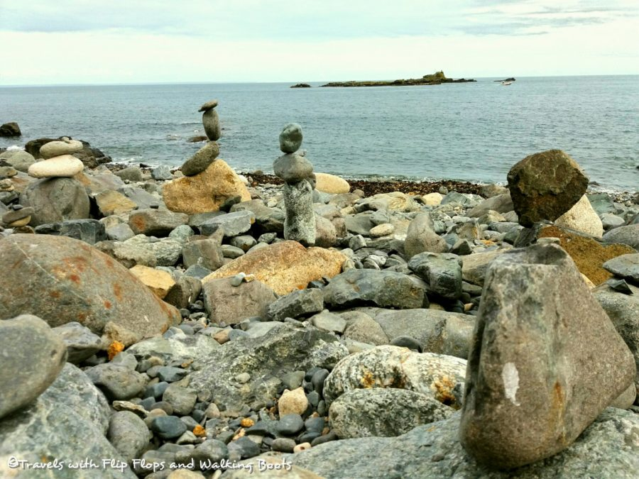Rock Sculptures on Mousehole Pebble Beach