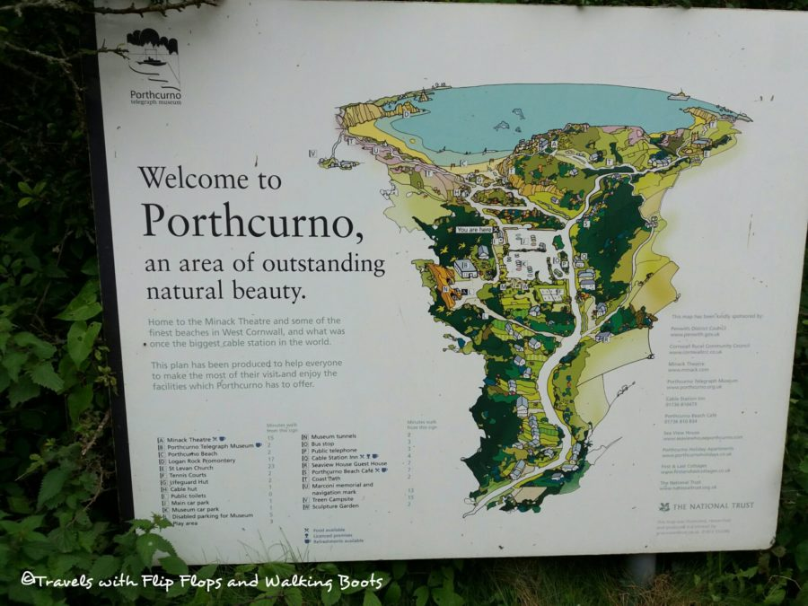 Welcome to Porthcurno, a colour map of the village